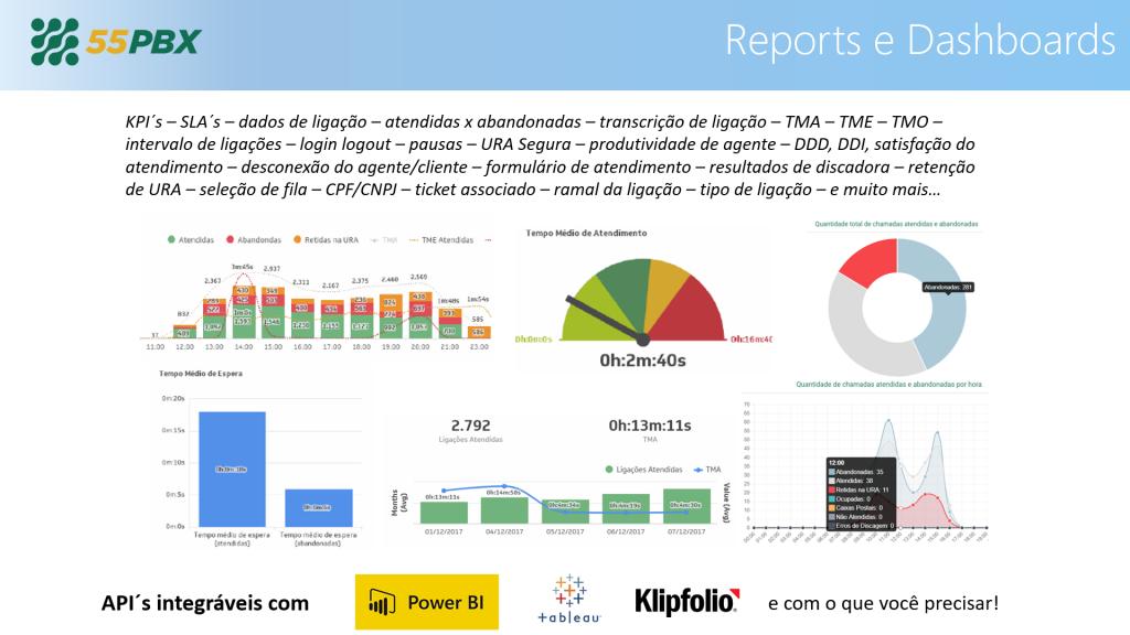 Relatórios avançados com Klipfolio e Power BI, além do Realtime
