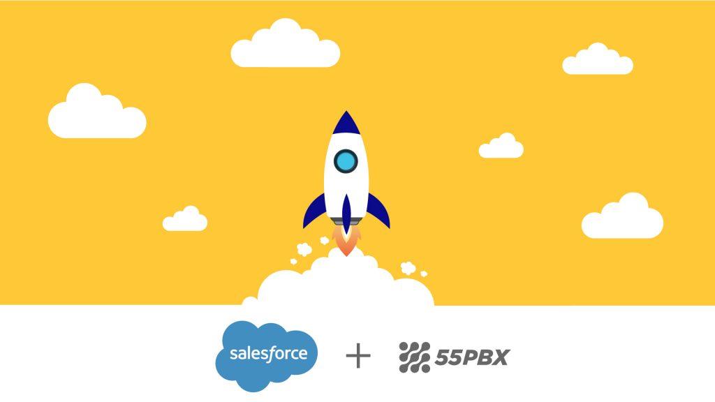 integração salesforce 55pbx